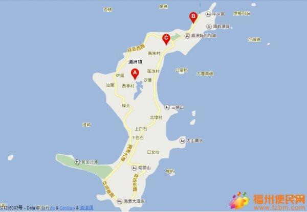 先上一张湄洲岛地图来~~~~ 适合出行天数:1天 交通工具   :1,自驾游